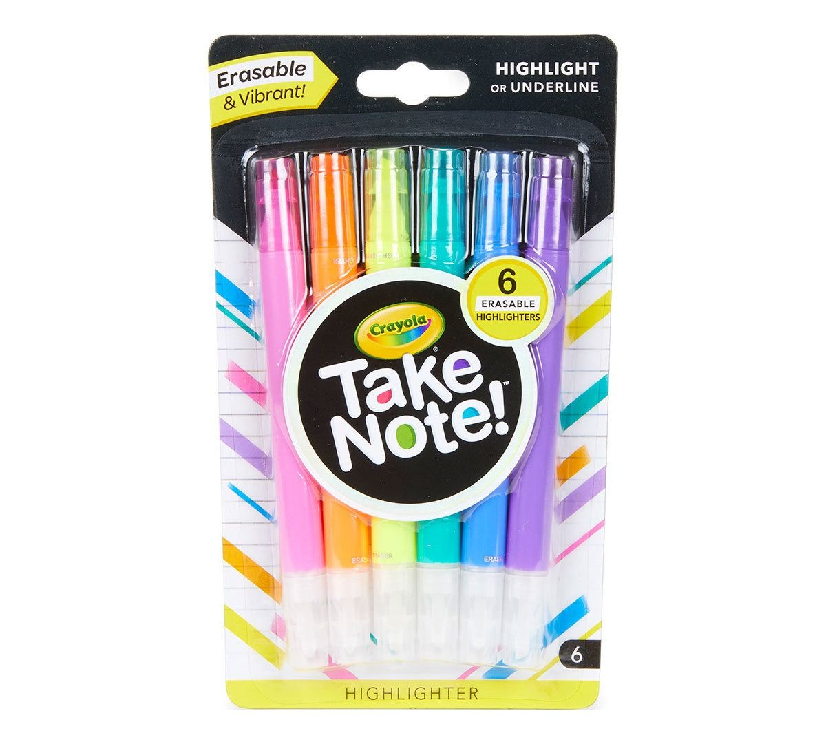 Crayola Take Note 6ct Erasable Highl...