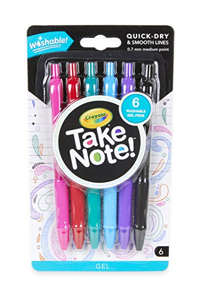 Crayola Take Note 6ct gel pen