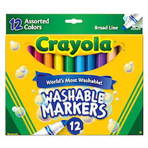 Washable Broad Line Marker 12s