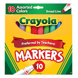 Colored Markers - Broad Line - 10s