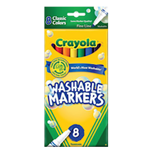 Washable Fine Line Marker 8s